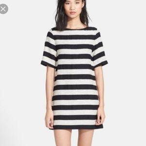 Alice + Olivia Mandy Stripe Tweed Shift Dress